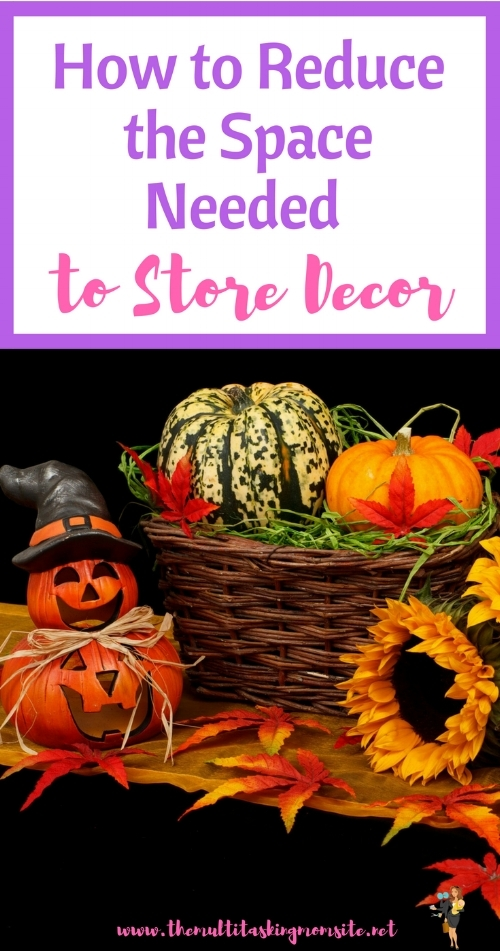 Check out these tips to reduce the amount of space it takes to store your seasonal decor.