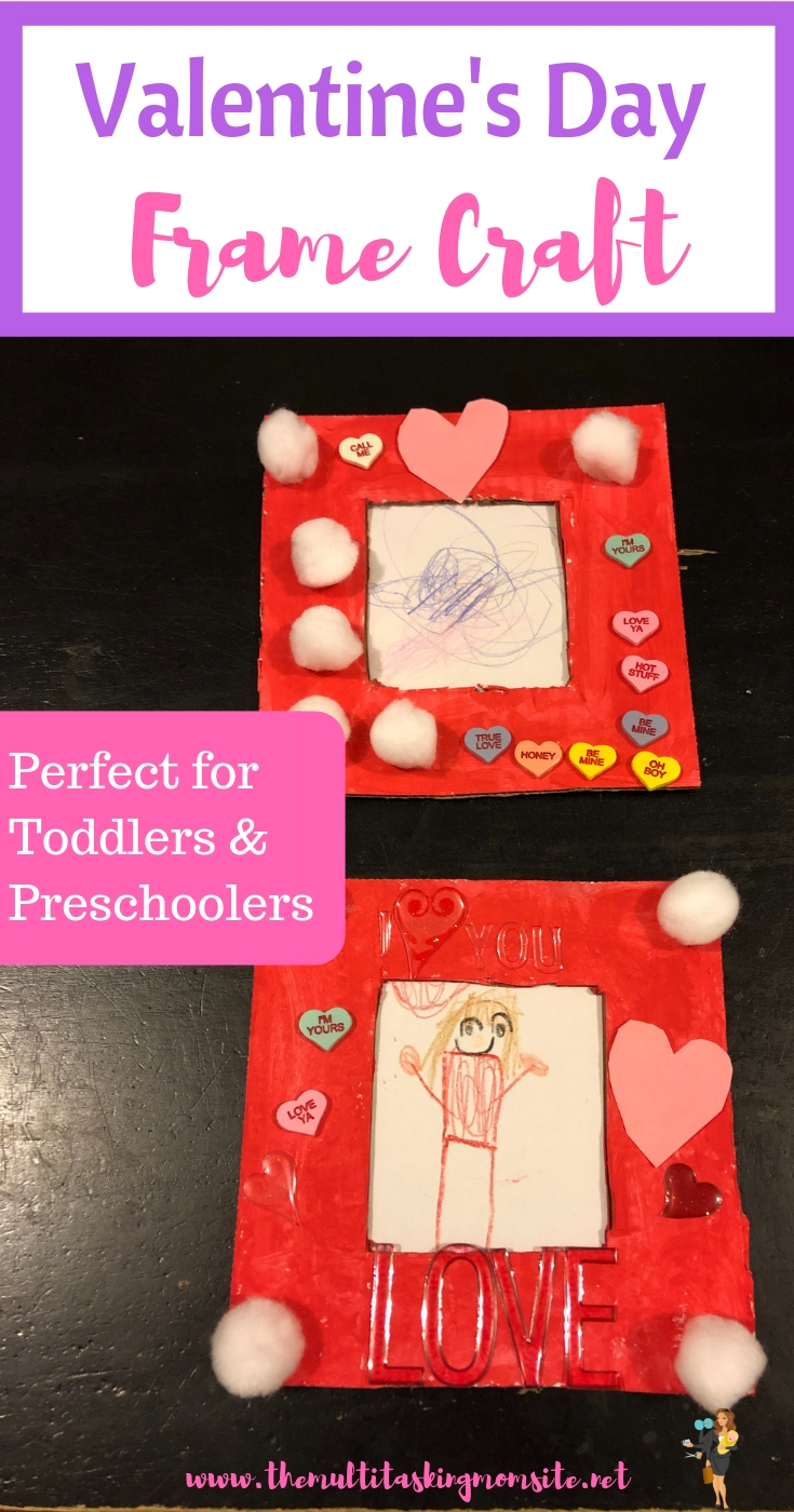 This is a super fun Valentine's Day craft project perfect for toddlers, preschoolers, and young kids. The frame is the perfect gift for your children to make for the ones they love.