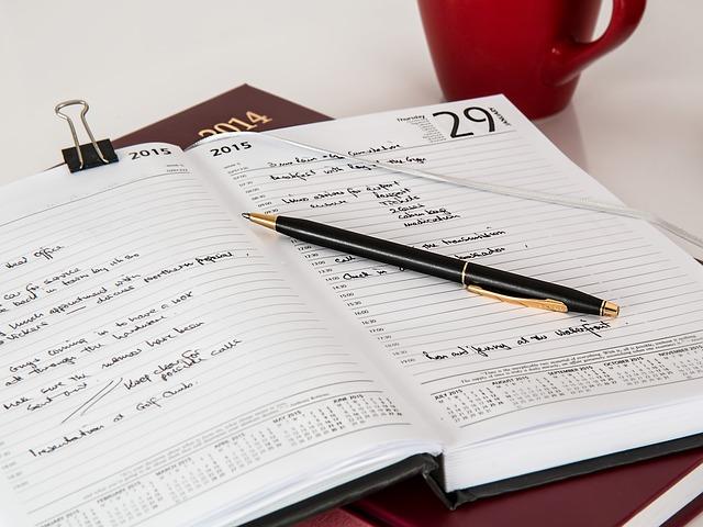 Daily schedule/planner