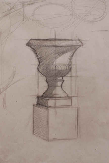 M. Pieczonka, Urn with cube study, class demo..jpg