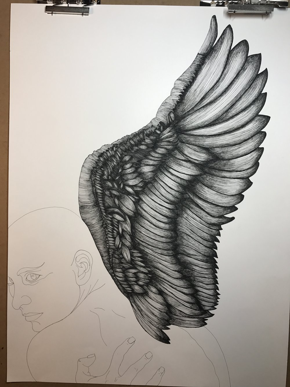 - Finishing the wing feels like a major victory. This is about 50 hours in so far, start to finish.