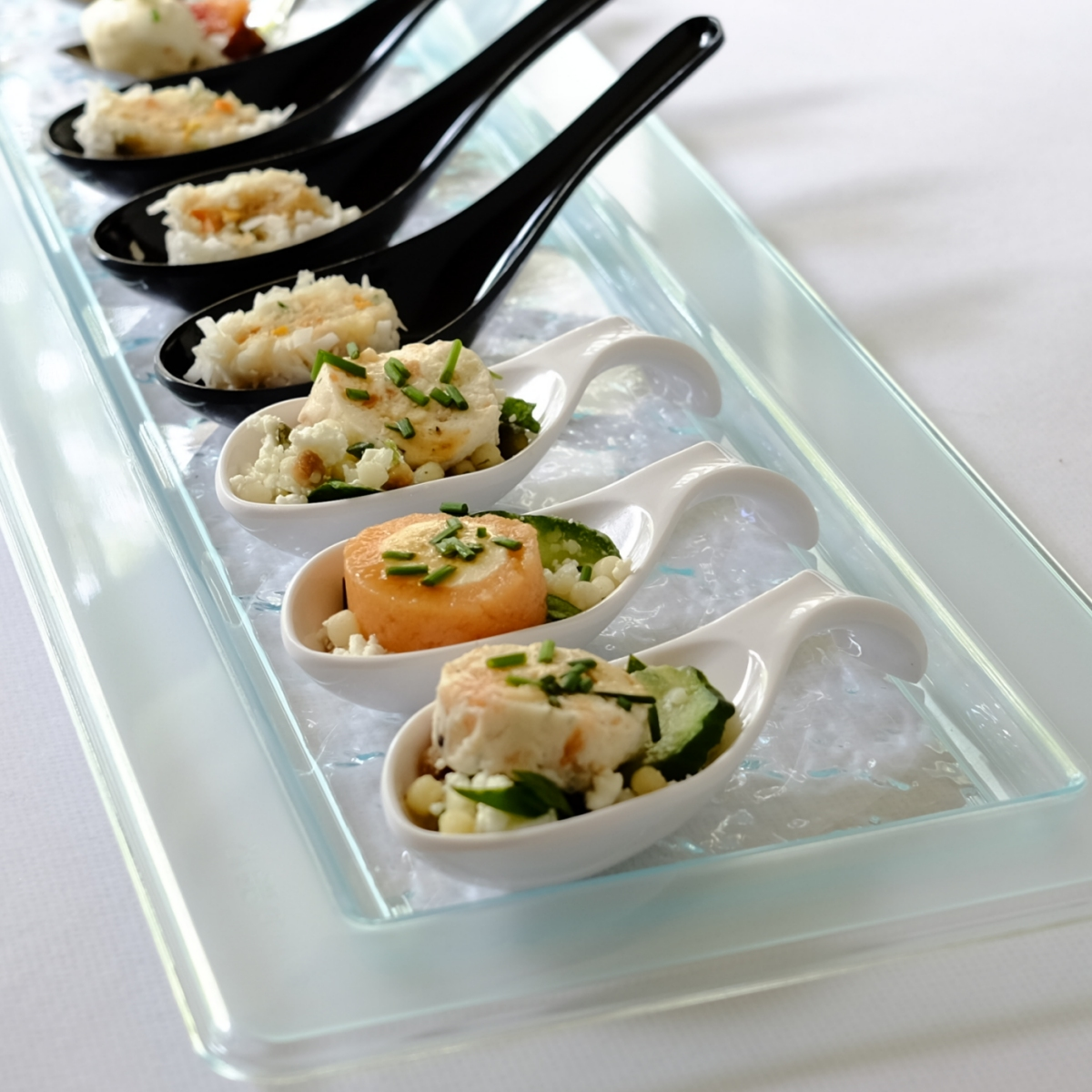 Glass Effect Rectangular Serving Platter & Party Plates | Stylish Parties