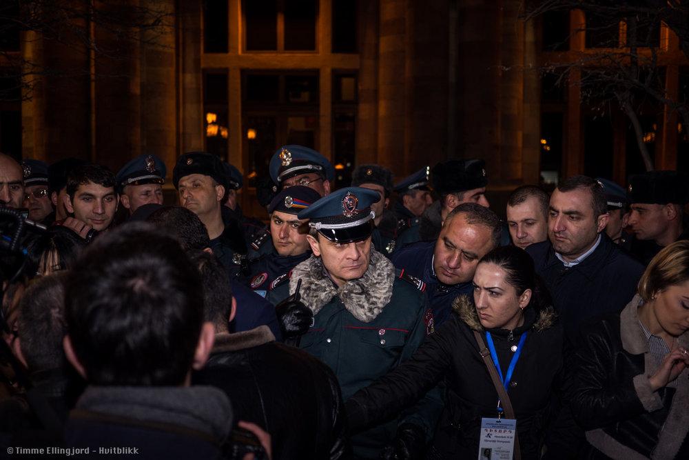 Valeri Osipyan - Deputy Head of the Yerevan City Department of the Police.