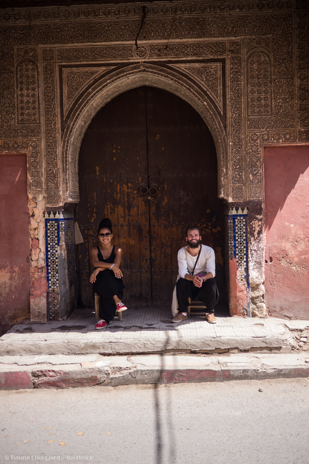 Me and my lovely travel-companion Adriana in Marrakech