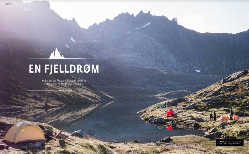 Molladalen -  En fjelldrøm.  Klatring number 145.