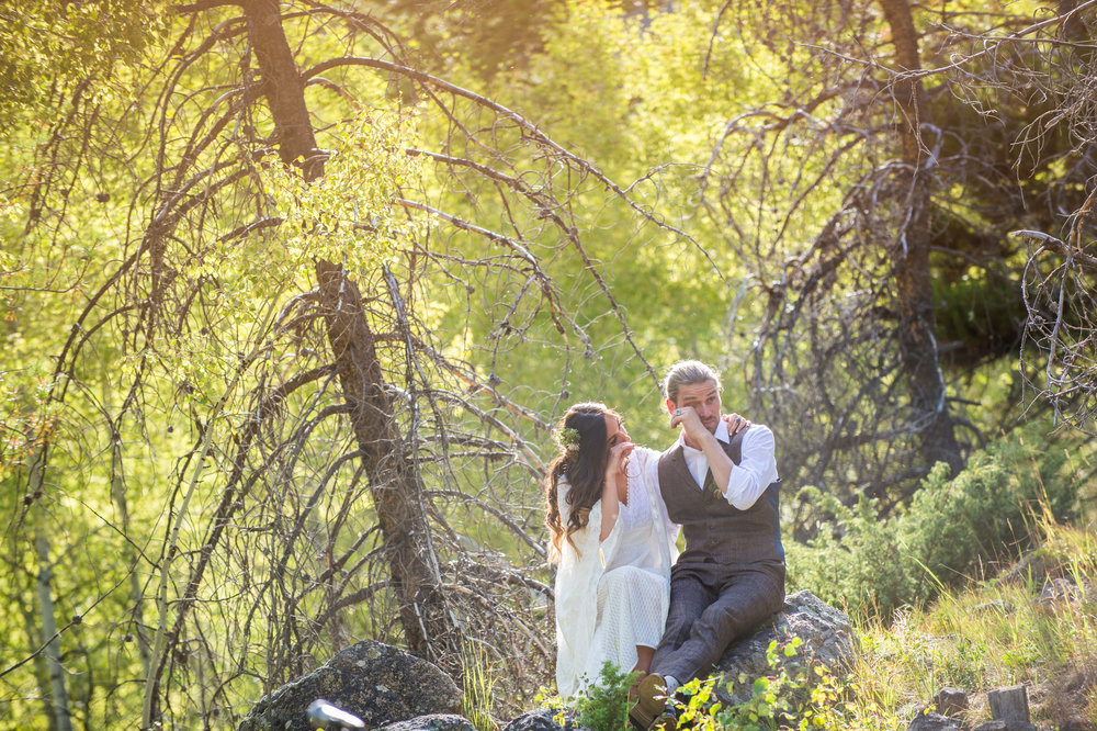 Mountain Wedding - The bona-fide, hippy inspired mountain wedding in Colorado of Katie and Gary.