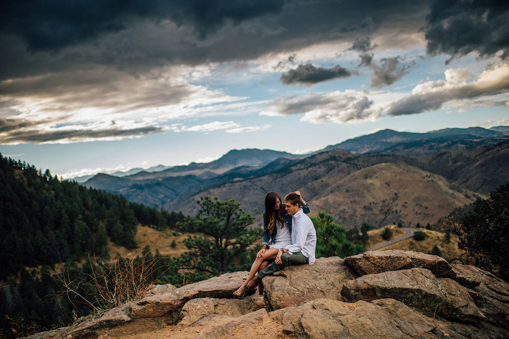 mountain engagement pictures colorado