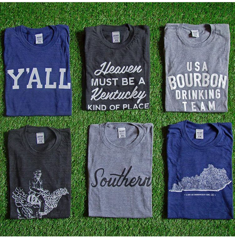 "T-shirts from Kentucky for Kentucky     From KYforKY: ""Thanks for reaching! Congrats on opening a new storefront...I know how much hard work goes into everything."""