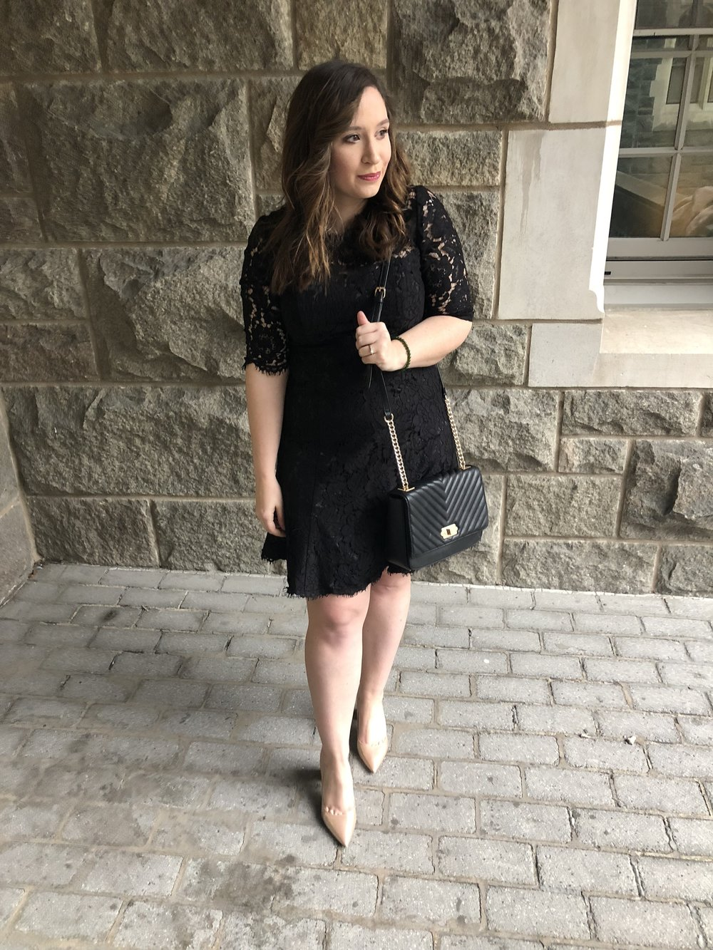 USMA 2018 100th Night Recap Eliza J Dress Outfit Perfect Little Black Dress Outfit
