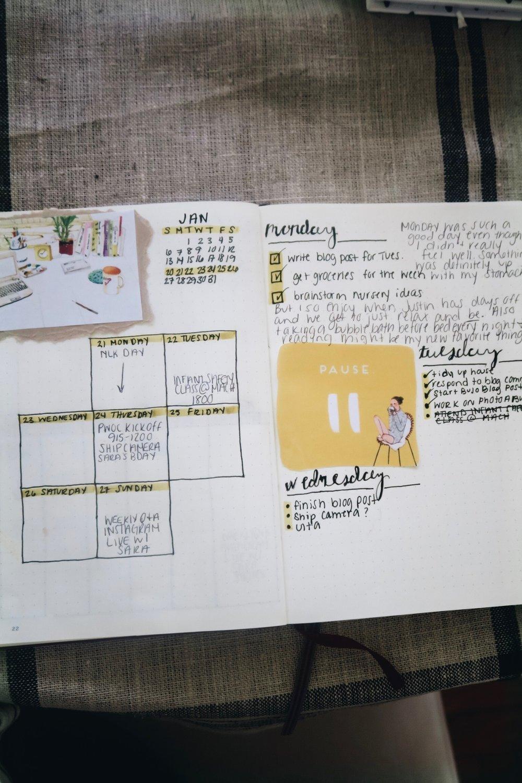 2019 Bullet Journal Setup   Weekly Layout