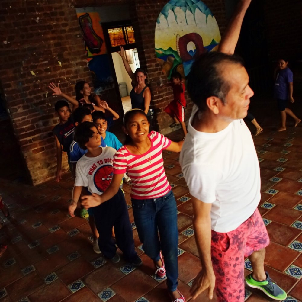Dancing with our community partner  Barrio Planta Project . Photo credit: Jim Hill