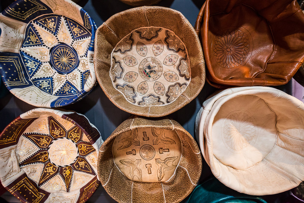 The main leather tanneries in Marrakech are located in the Bab Debbagh quarter in the north end of the medina.