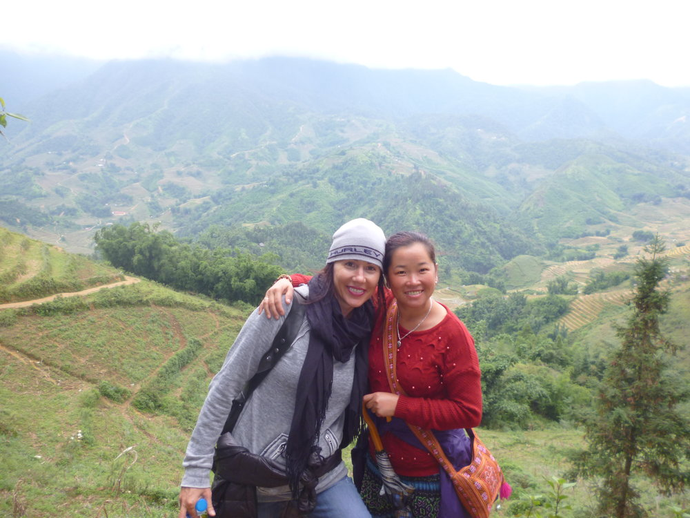 Hiking with women owned non profit guide in Sapa, Vietnam