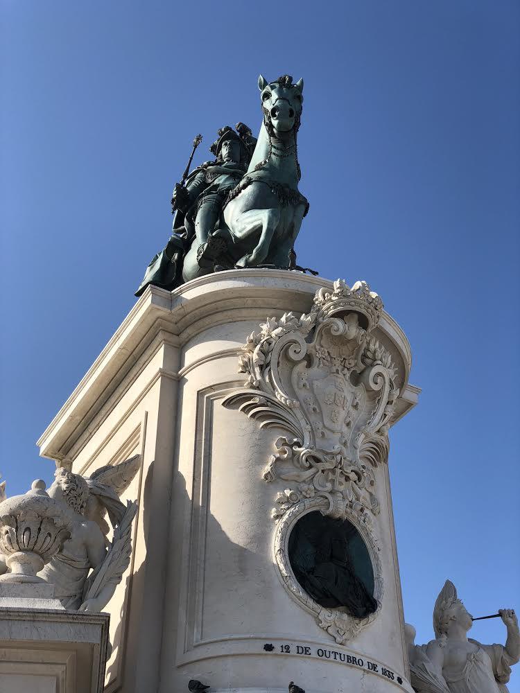 The famed equestrian statue of Joseph I in the centre of Praça do Comercio. Photo credit: Belinda Birchall