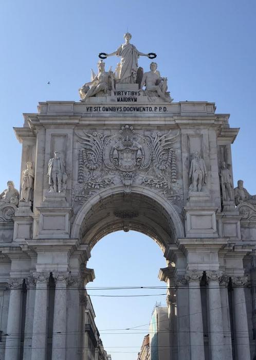 The beautiful Rua Augusta Arch, leading to the city centre. Photo credit: Belinda Birchall