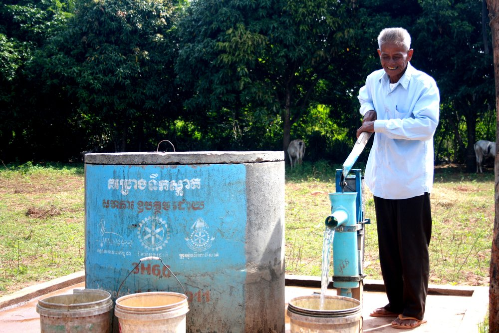 Sustainable Cambodia water filtration system.