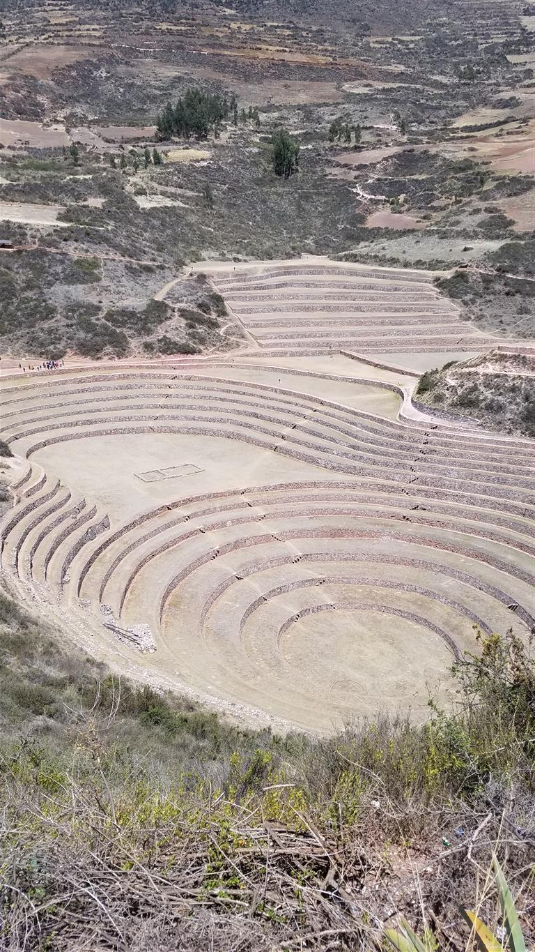 Terraces at Moray in the Sacred Valley
