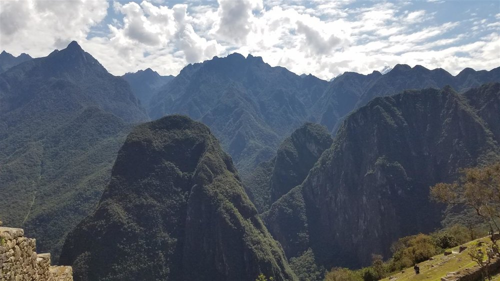 Views of the mountains around Machu Picchu