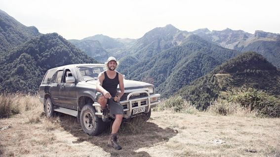 Maxy — our local New Zealand guide in 2018, in his element.
