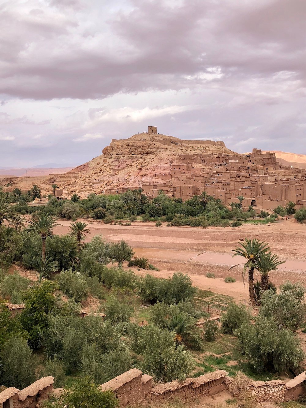 The UNESCO World Heritage site of Ait Ben Haddou, en route to the Sahara Desert.