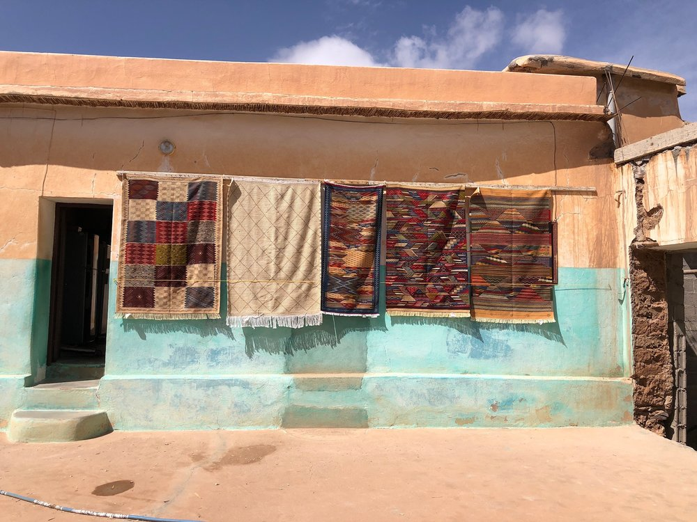 Hand made carpets at our community partner, a  Berber women's textile coop .