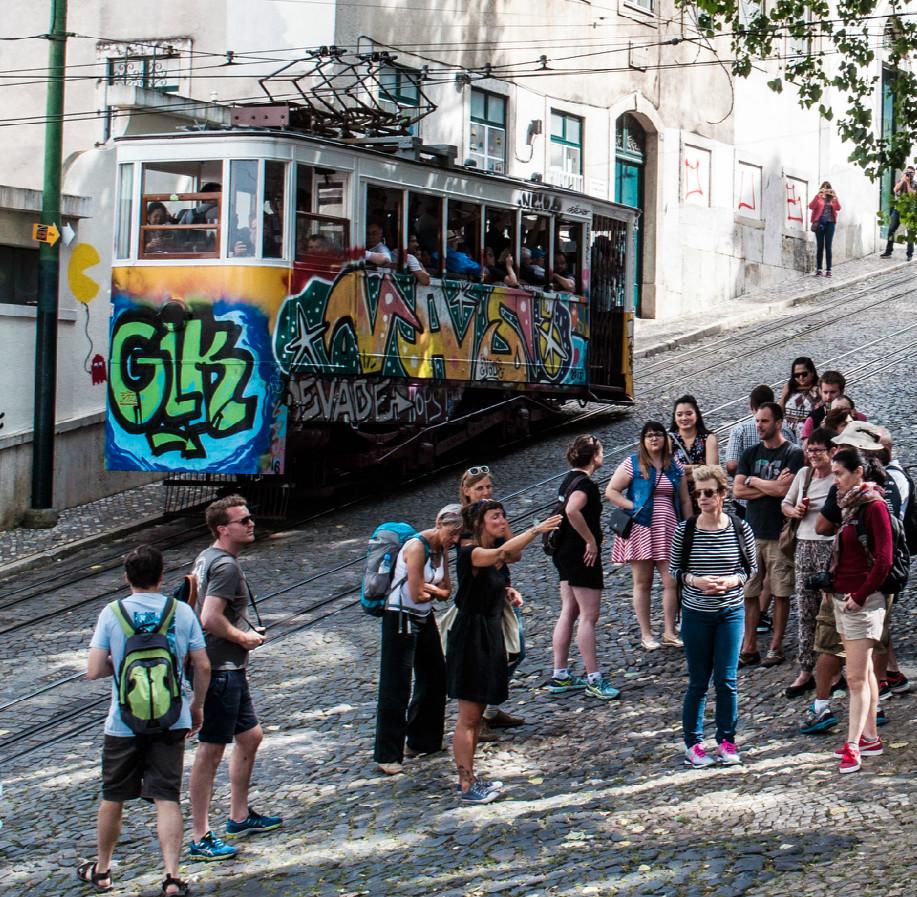 Enjoying the street scene. Photo credit Chiara Falcon.
