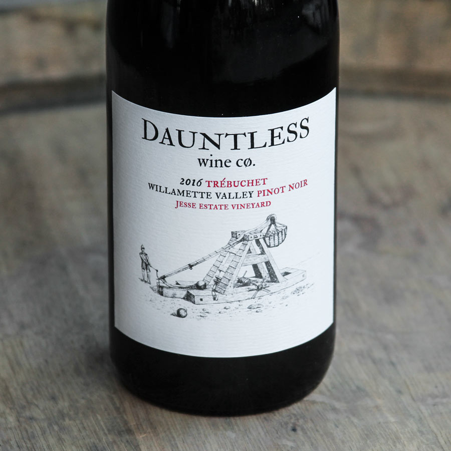 Dauntless Wine Company used a blend of Jesse Estate's Pommard and Wädenswil  to make their 2016 Trébuchet Pinot Noir.