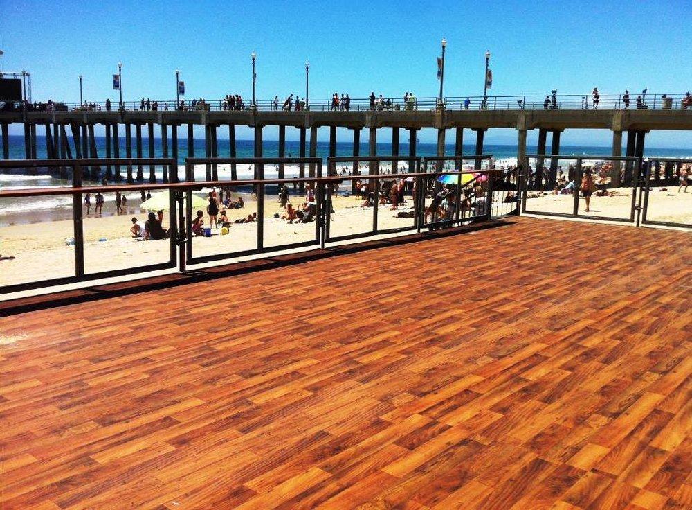 US Open of Surfing, Wooden Platform; Huntington Beach, CA