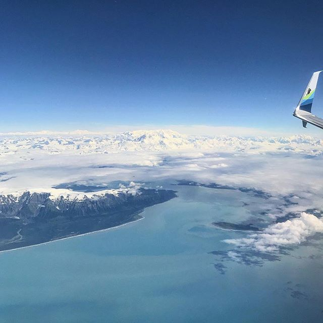 VIEWS FROM THE TOP ✈️🌎 Spotted this gorgeous view on my way up to Anchorage, Alaska! 🤩 I could fly over these glaciers, coastlines and mountain ranges forever—they are what dreams are made of! ☁️☁️ I think I'll go on a bike ride tomorrow to get a closer view of the water.  Have you been to Alaska? What was your favorite part?? #thriveaway #alaska #travelguide #anchorage #travelalaska #getoutside #travelblog #travelgirl #femmetravel #wearetravelgirls #flightattendant #flightattendantlife #falife #wanderlust #wanderwoman #explore #mothernature