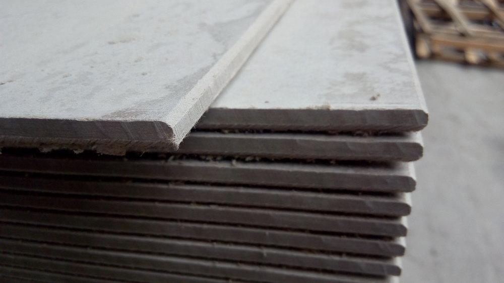 Fibre Cement Boards - ThinBroken plates or broken edgesContinuous supply