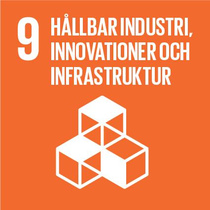 FN:s Definition:  Bygga upp en motståndskraftig infrastruktur, verka för en inkluderande och hållbar industrialisering och främja innovation.