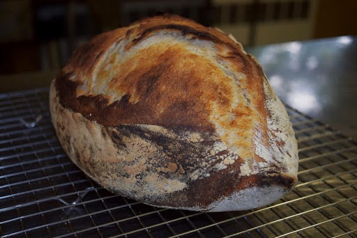 Sourdough loaf baked by workshop instructor, Shauna Kearns