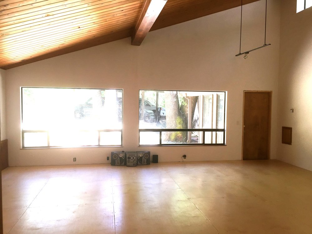 The Studio - A 450 sq ft movement/mediation/sound space with sprung wood floor