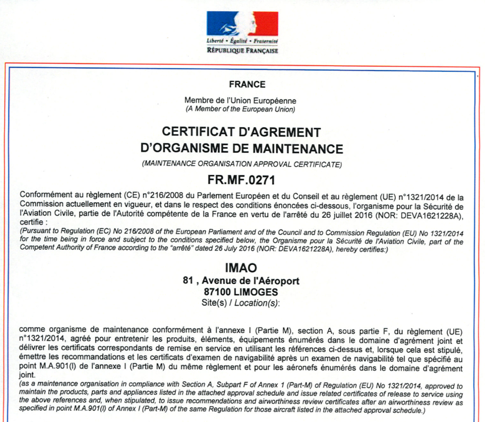 IMAO-AGREEMENT-EASA