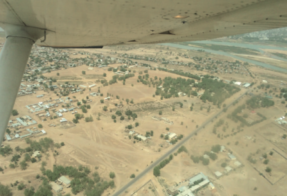 Flight over N'Djamena