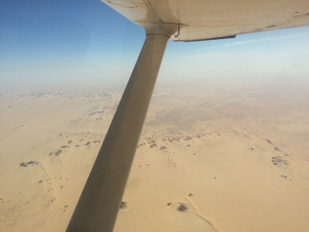 Flight over Sahara