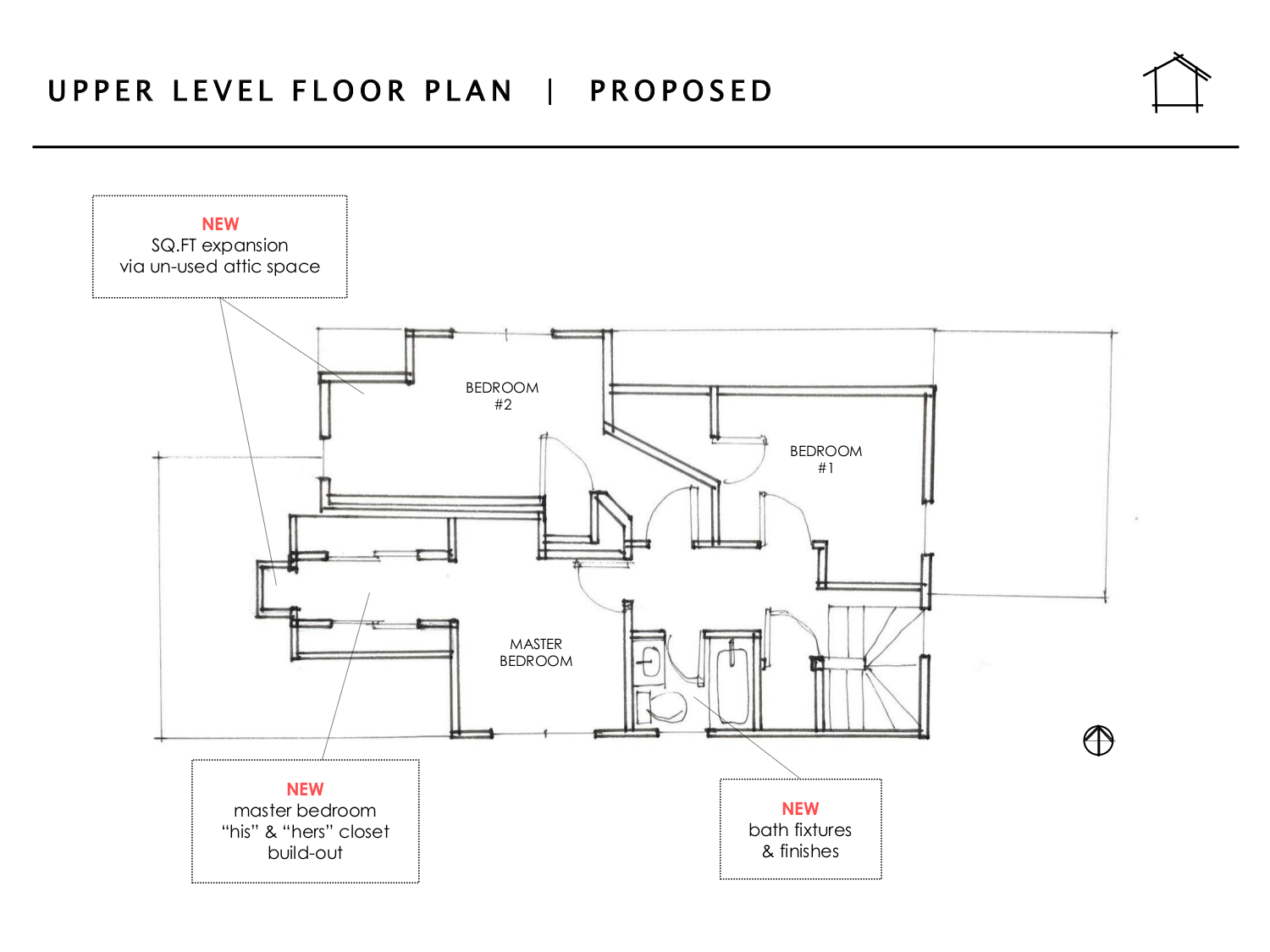 Daily Home Co J O U R N A L Murray Bungalow Upper Level Proposed Floor Plan