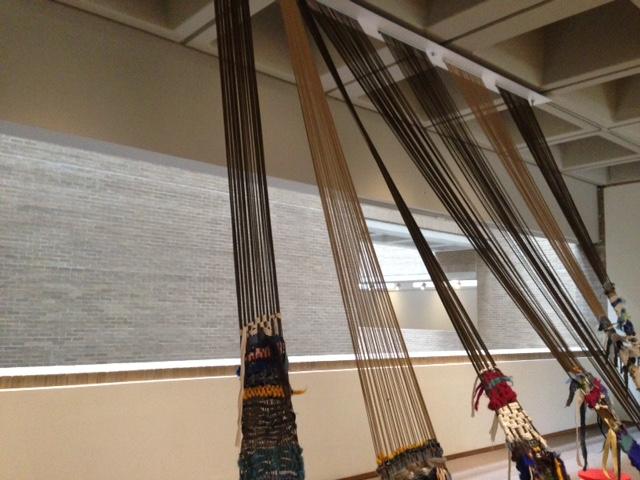 Community loom at NCMA's exhibit.
