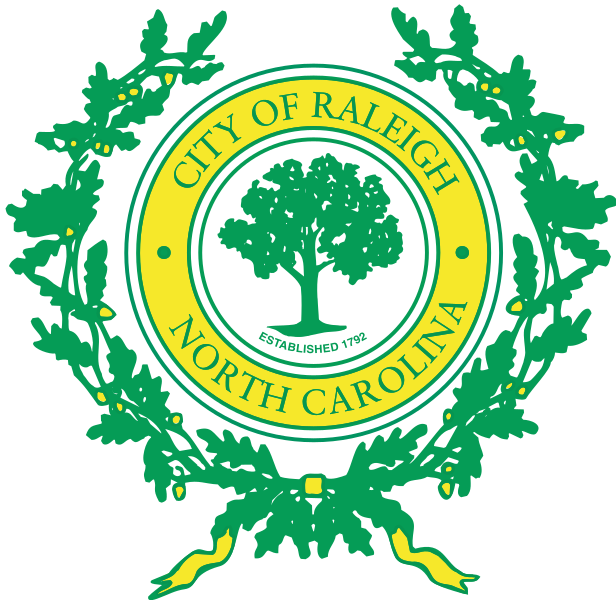 "The old Raleigh ""logo"". Really, it's just the city seal. Looks kind of like a broccoli."