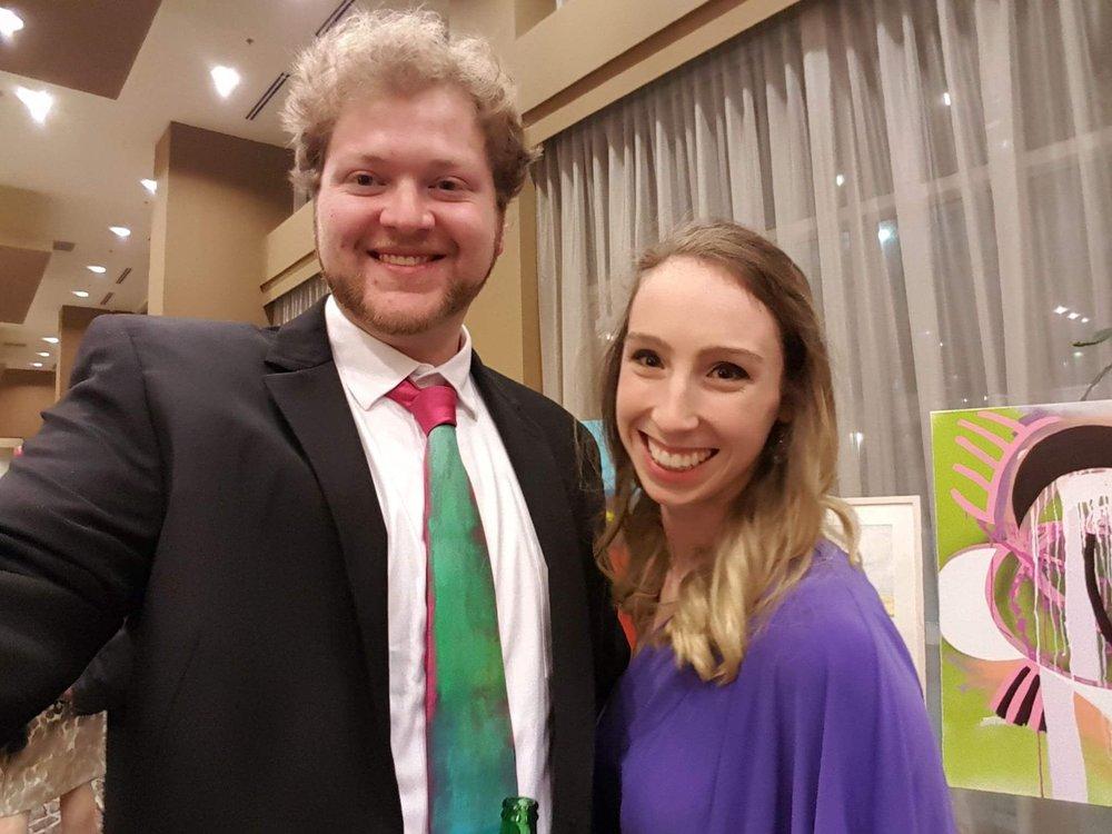 Shep and Caro at VAE's Art Gala