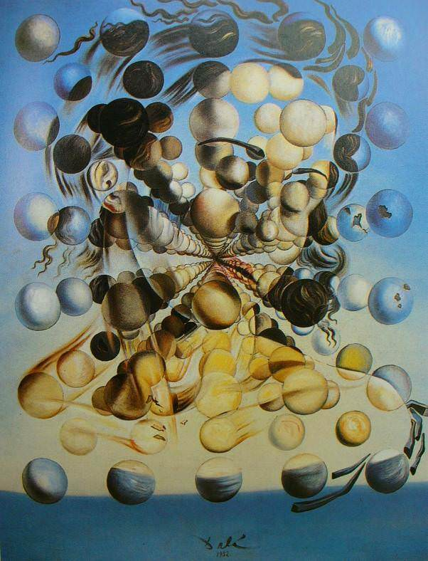 """Galatea of the Spheres,"" 1952, Salvador Dali. Image courtesy of dalipaintings.org. For more info, please visit:  https://www.dalipaintings.com/galatea-of-the-spheres.jsp"