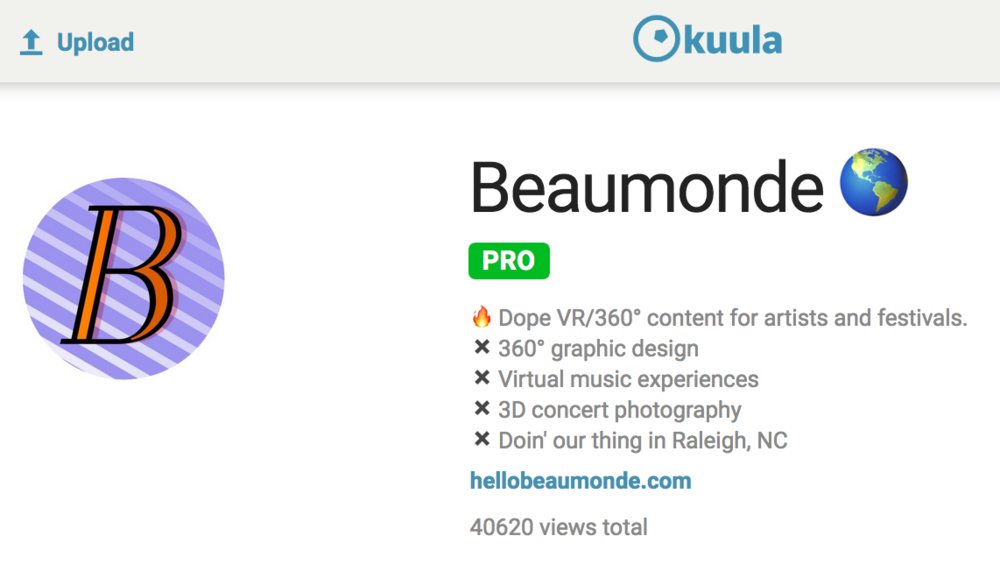 Beaumonde 360 - Top Views on kuula 360 vr platform - content creators.png