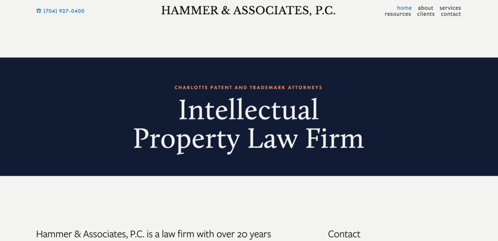 Hammer & Associates - Patent Law -