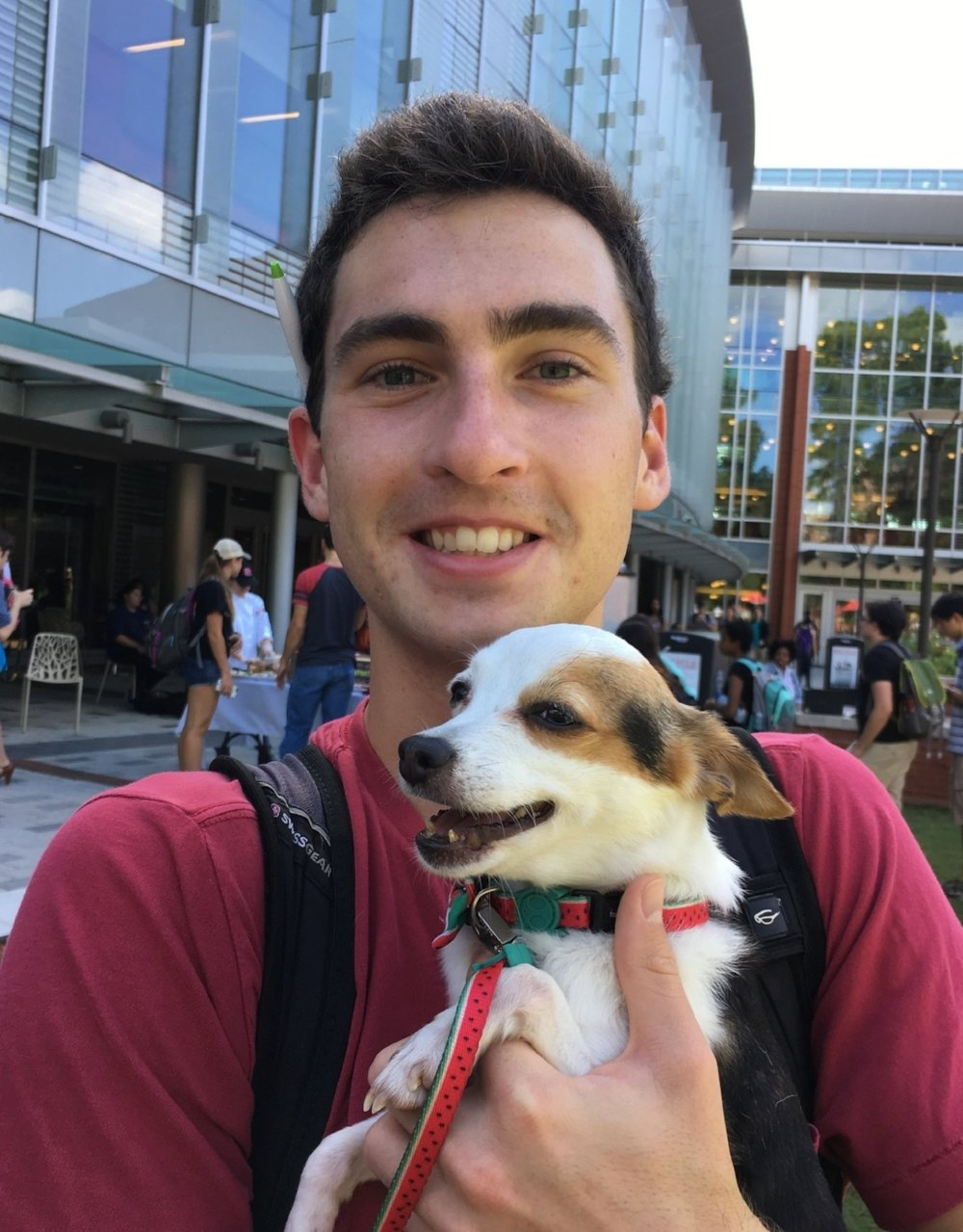 With a pup by Talley at NC State