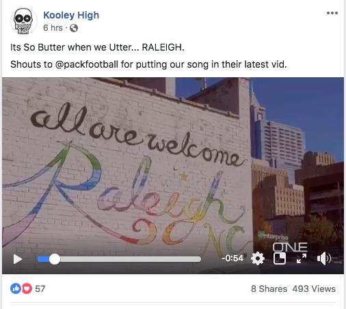 NC rap-group Kooley High on Facebook.