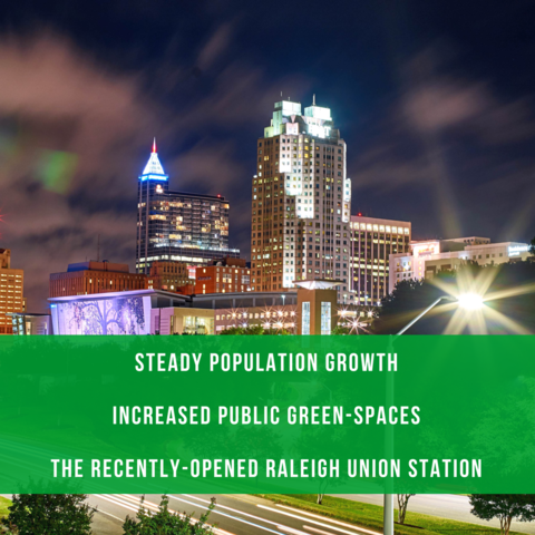 The city of Raleigh is growing like crazy!