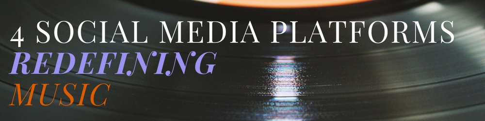 4 social media platforms redefining music, up-close of a record.
