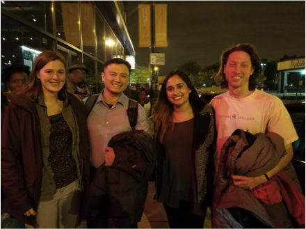 A student-organized outing to view a recording of The Moth at the Promontory
