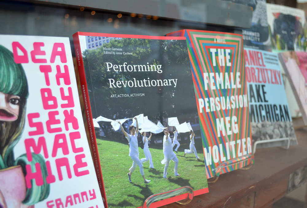 Performing Revolutionary at Women & Children First Bookstore - by Christina Nafziger for Sixty Inches from Center