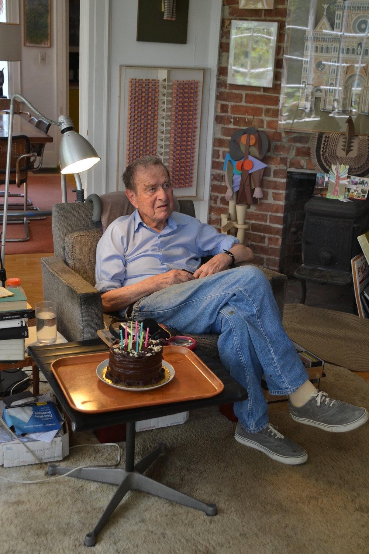 Irving Harper with birthday cake (4).JPG